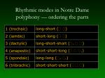 rhythmic modes in notre dame polyphony ordering the parts