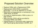 proposed solution overview