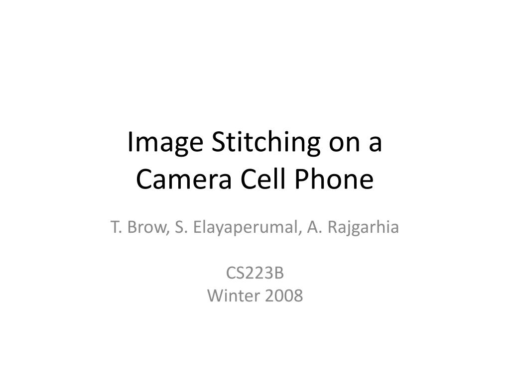 image stitching on a camera cell phone l.