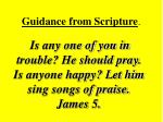 guidance from scripture