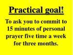 practical goal65
