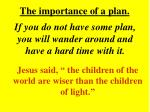 the importance of a plan