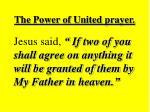 the power of united prayer