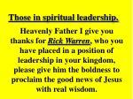 those in spiritual leadership15