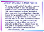 division of labour in meat packing