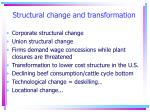 structural change and transformation