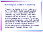 technological change deskilling