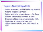 towards national standards