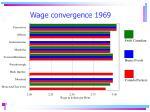 wage convergence 1969