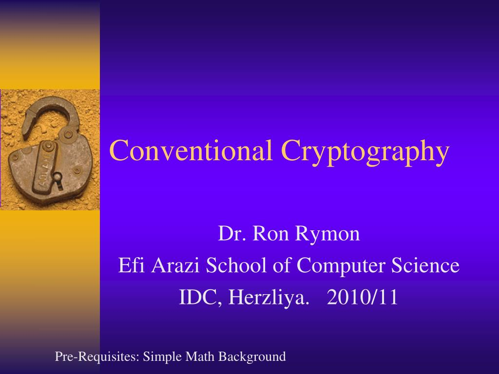 conventional cryptography l.