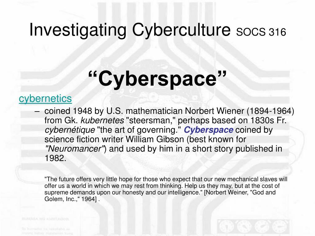 investigating cyberculture socs 316 l.