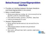 belos anasazi linear eigenproblem interface