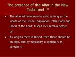 the presence of the altar in the new testament 4