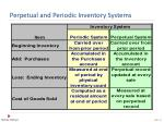 perpetual and periodic inventory systems13