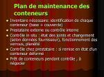 plan de maintenance des conteneurs