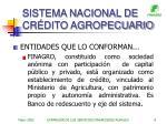 sistema nacional de cr dito agropecuario8
