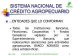 sistema nacional de cr dito agropecuario9