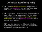 generalized beam theory gbt