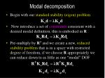 modal decomposition