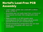 nortel s lead free pcb assembly