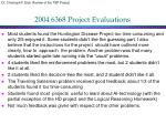 2004 6368 project evaluations