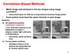 correlation based methods