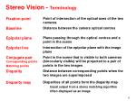 stereo vision terminology