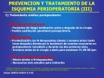 prevencion y tratamiento de la isquemia perioperatoria iii