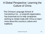 a global perspective learning the culture of china