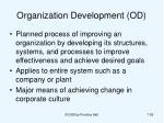 organization development od