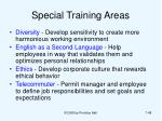 special training areas