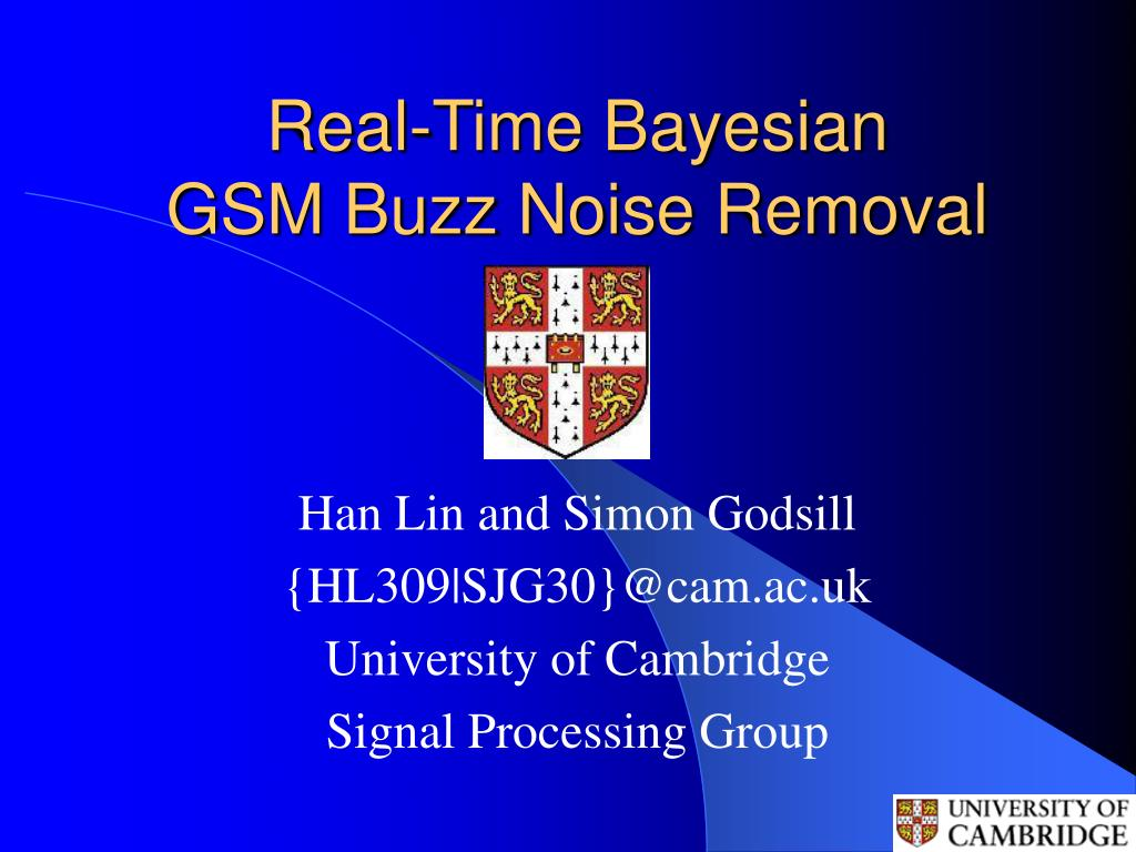real time bayesian gsm buzz noise removal l.