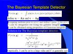 the bayesian template detector14