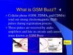 what is gsm buzz