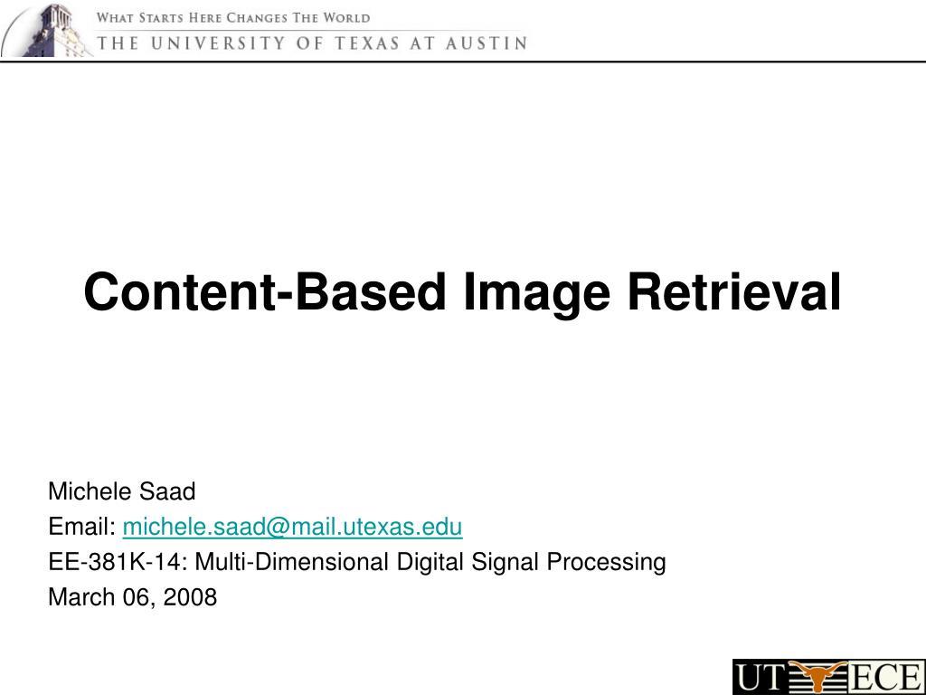 content based image retrieval l.
