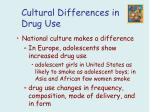 cultural differences in drug use