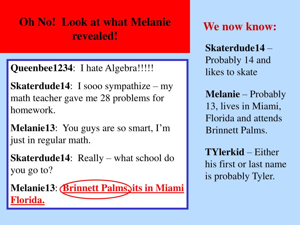 Oh No!  Look at what Melanie revealed!
