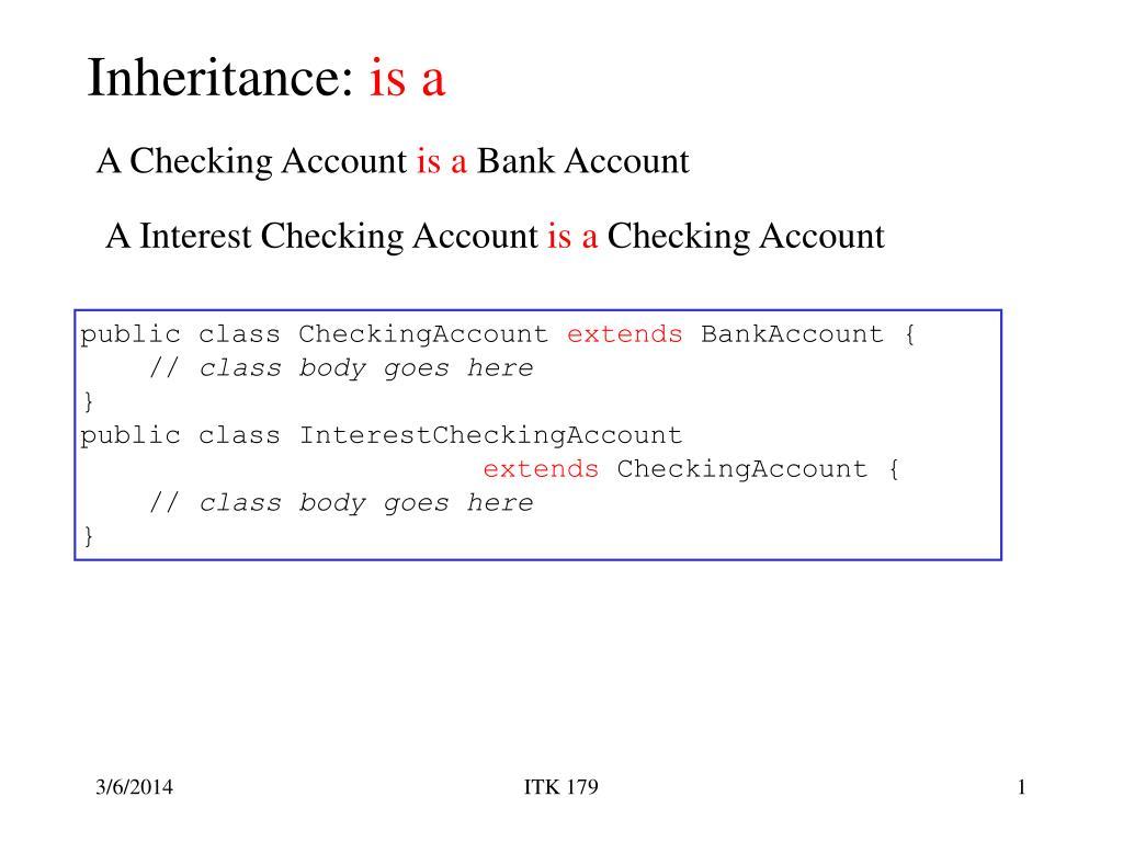 inheritance is a l.