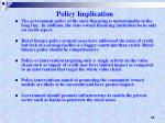 policy implication