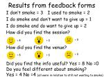 results from feedback forms