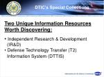 dtic s special collections