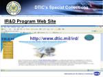 dtic s special collections71