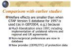 comparison with earlier studies