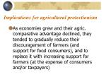 implications for agricultural protectionism