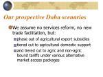 our prospective doha scenarios