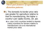 three past features of agricultural distortion patterns
