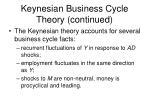 keynesian business cycle theory continued