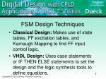 fsm design techniques