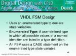 vhdl fsm design