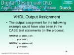 vhdl output assignment